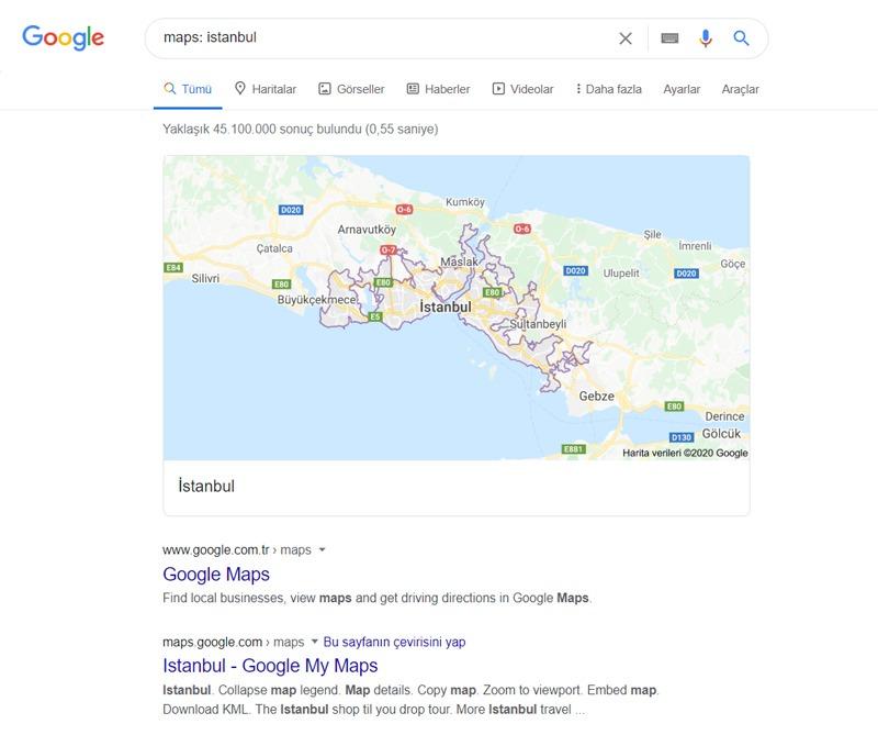 Lokasyon Bilgiler - Maps  Dorku