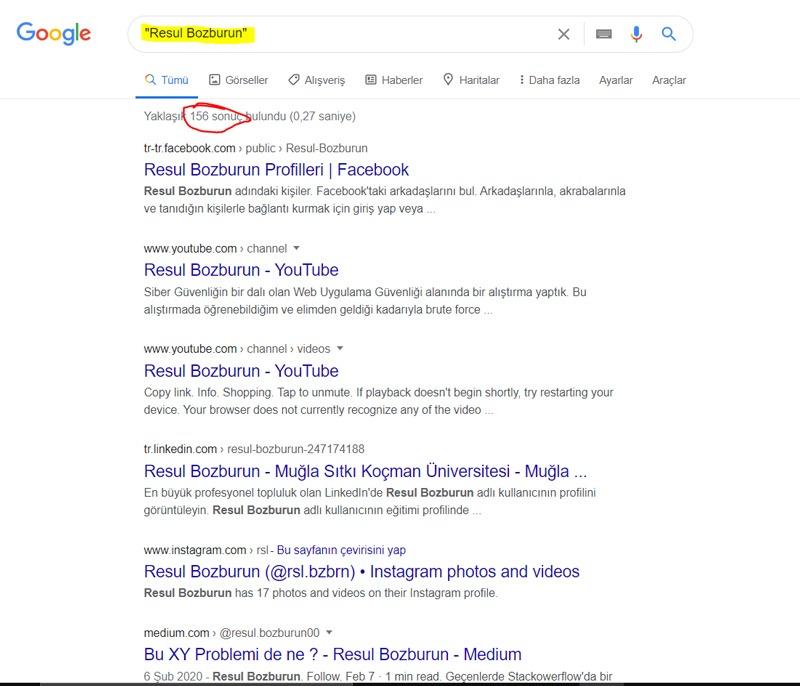 Google Dork Kullanımı - Bilgi Toplama
